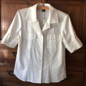 Ellen Tracy Blouse size 8 NEW with Tags
